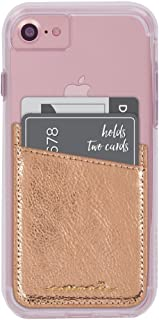 Case-Mate CM035448  - Stick On Credit Card Wallet - POCKETS - Ultra-slim Card Holder - Universal fit - Apple – iPhone – Samsung – Galaxy - and more – Rose Gold