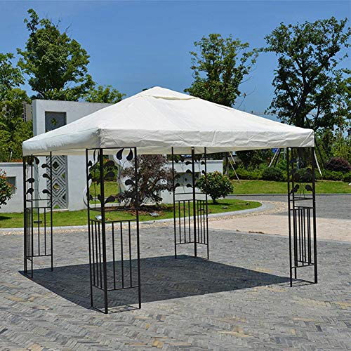 10x10FT Pop Up Canopy Tent, Outdoor Double Layer Tent Top Cover Patio Gazebo Top Cover Replacement Cover for Outdoor Yard Camping Hiking Commercial Use, 300D Waterproof UV Protection