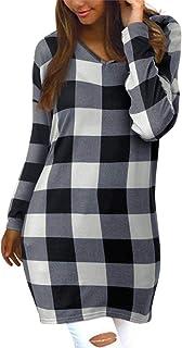 Style Dome Jerseys de Punto Mujer Largos Vestidos Invierno Basico Suelto Jerseys Camisa Tops Pull-Over Suéter Mujer Jersey...