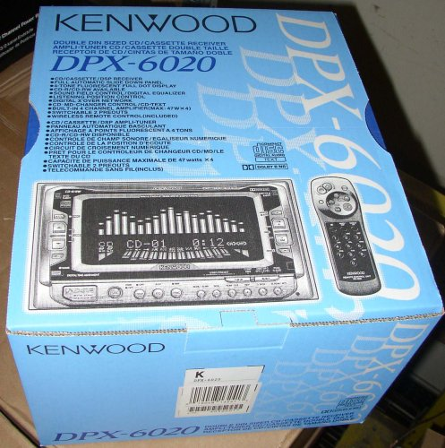 KENWOOD 2005 2-DIN CD Cassette Receiver with DSP DPX-6020