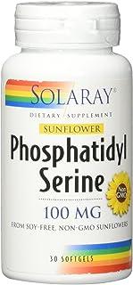 Solaray Sunflower Phosphatidylserine Non GMO, Softgel (Btl-Plastic) 100mg | 30ct