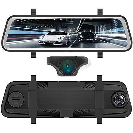 Red Wolf Dashcam Spiegel Mit Auto Rückfahrkamera Elektronik