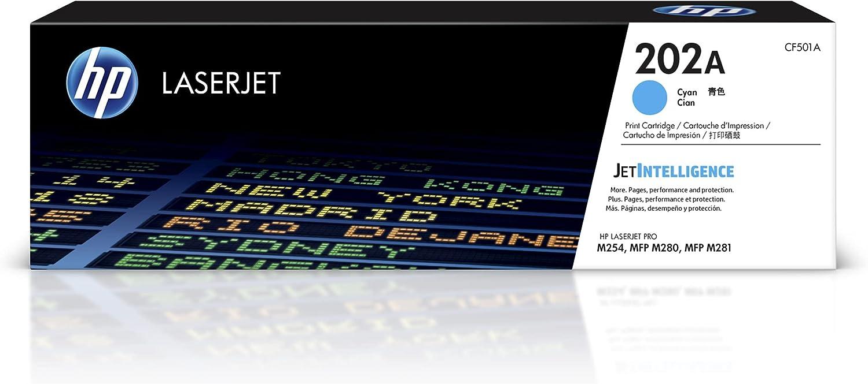 HP 202A   CF501A   Toner-Cartridge   Cyan   Works with HP LaserJet Pro M254, M281cdw, M281dw, M281fdw
