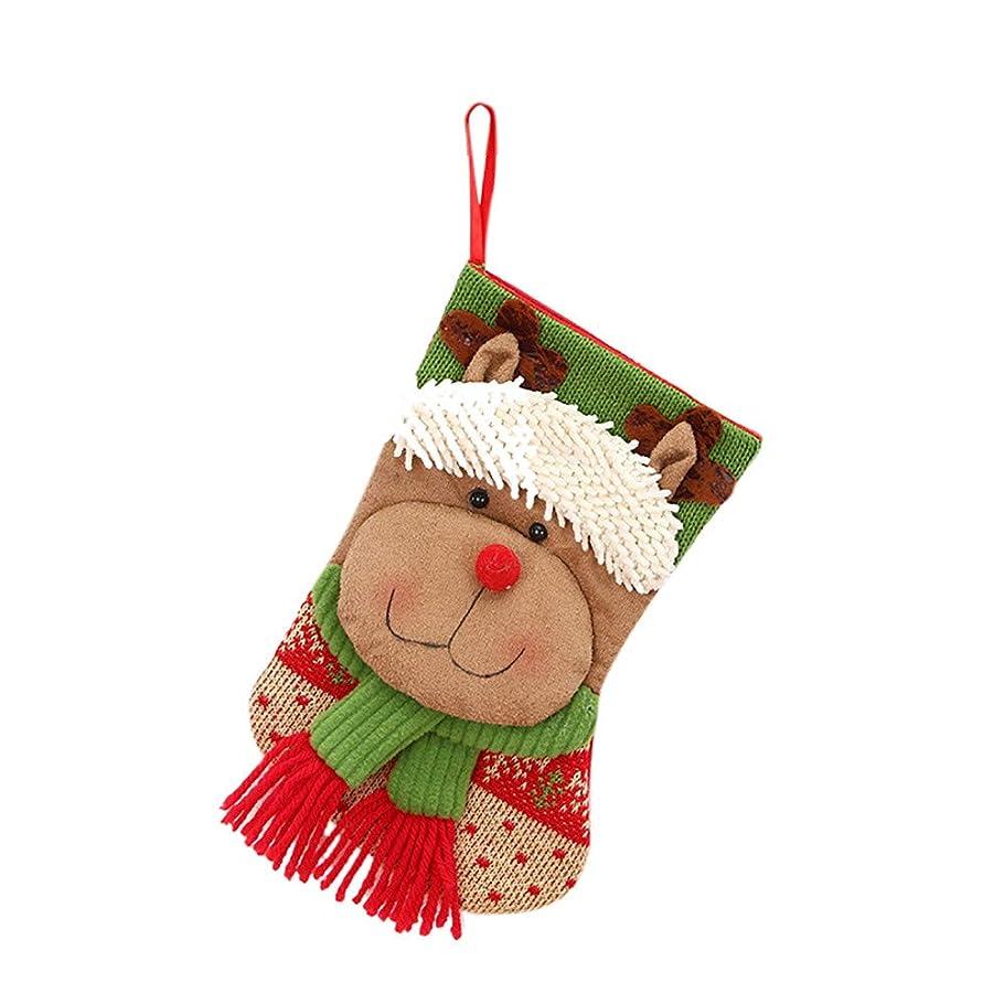 納税者植木クラシカル新年、2018年、クリスマスツリー、ハンギングデコレーション、パーティーデコレーション、サンタクロース、ストッキング、キャンディソックスバッグ。 22 * 13 cm
