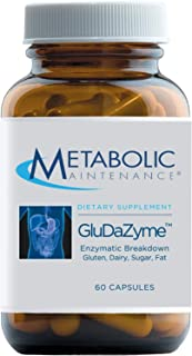 Metabolic Maintenance GluDaZyme - Digestive Enzymes to Support Gluten, Dairy, Carbohydrate + Protein Digestion - DPP-IV Bl...