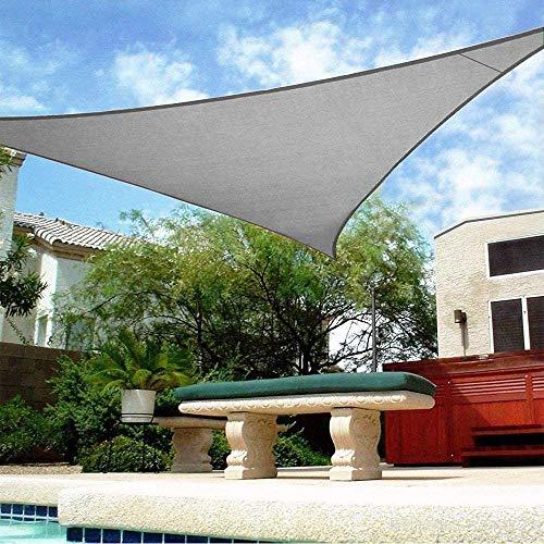 BCLGCF Toldo De Triángulo De Vela Sun Shade - 95% De Bloqueo UV Permeable Al Agua Y Al Aire, Comercial Y Residencial, para Pérgola De Patio,Gris,3.6x3.6x3.6M