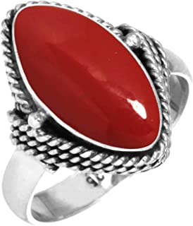 Best handmade silver ring with stone Reviews