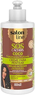 Linha Tratamento (SOS Cachos) Salon Line - Creme Para Pentear Coco 300 Ml - (Salon Line Treatment (SOS Curls) Collection - Coconut Combing Cream 10.14 Fl Oz)