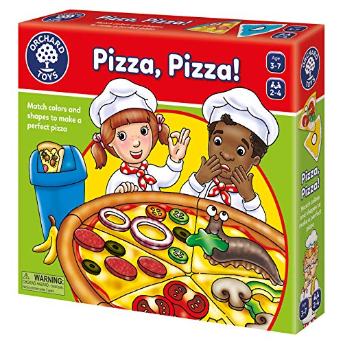 ORCHARD TOYS Pizza, Pizza Game, Fun and Educational Shape and Color Matching Game, Perfect for Home Learning, Encourages Discussion, for Ages 3-7