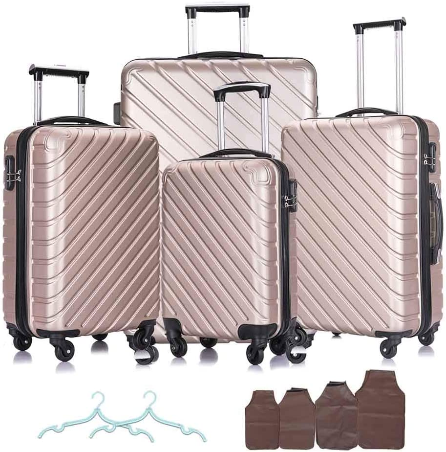 Apelila 4 Piece online shop Hardshell Luggage Carry Travel Over item handling ☆ On Sets Suitcase