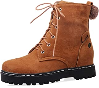 AbbyAnne Women Autumn Ankle Boots Lace up Martin Boots
