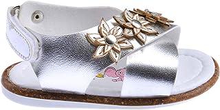 Kiko Şb 2272-81 Ortopedik Kız Çocuk İlk Adım Sandalet Terlik Gümüş