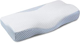 MOKALOO Cervical Pillow, Memory Foam Pillow for Sleeping, Bed Pillow for Neck Pain, Orthopedic Contour Pillow with Pillowcase, for Side, Back and Stomach Sleepers (Standard Size)