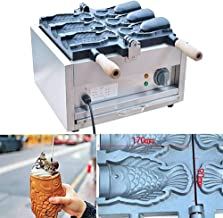 Icegrape Taiyaki Molde para Waffle con 2 Lados Forma de pez Molde para Tartas