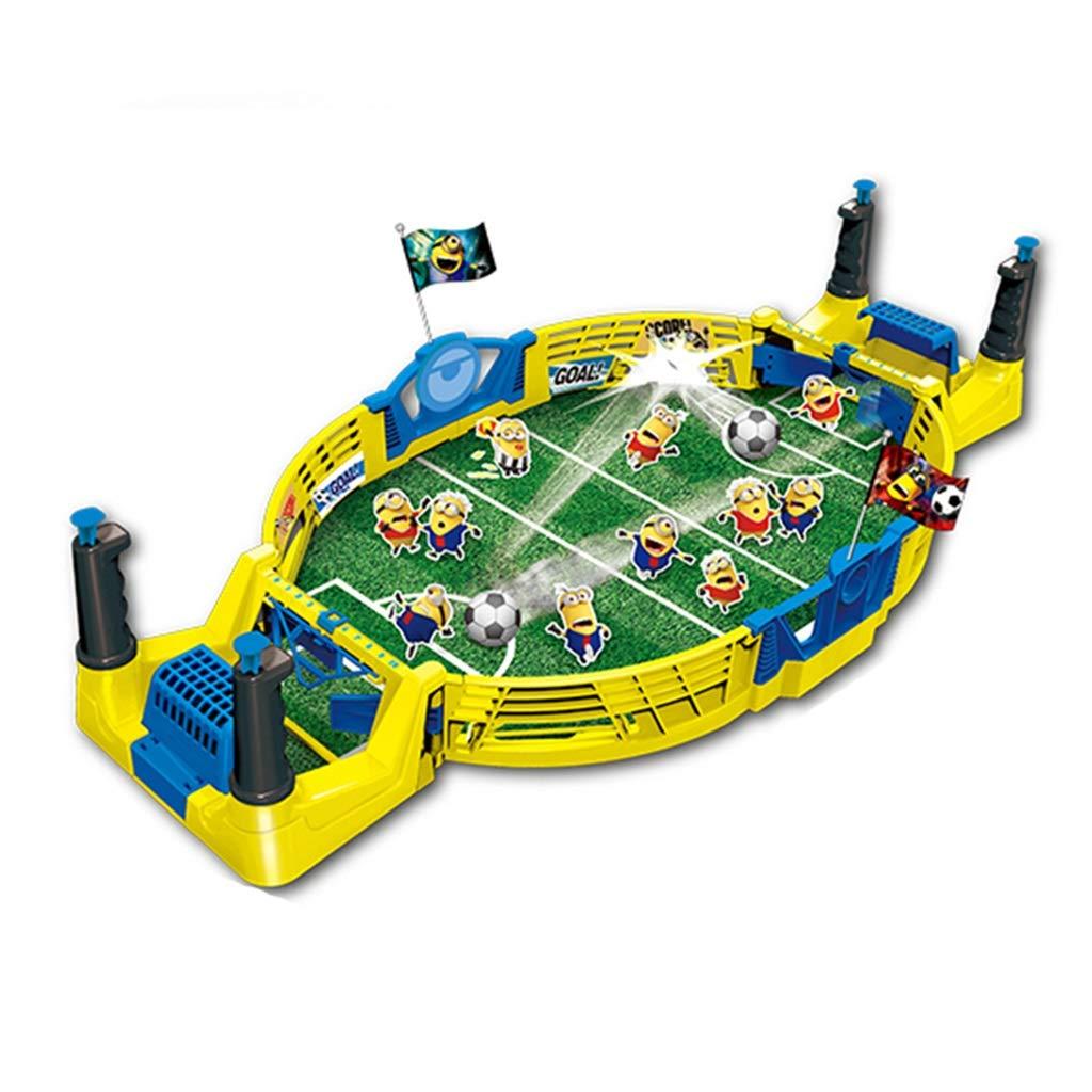Fútbol de Mesa niños de fútbol de Mesa Doble Juguetes educativos de Pelota de los niños Jugando a la Mesa de Juego de fútbol (Color : Yellow, Size : 56.5 * 27.5 * 11.5CM): Amazon.es: Hogar