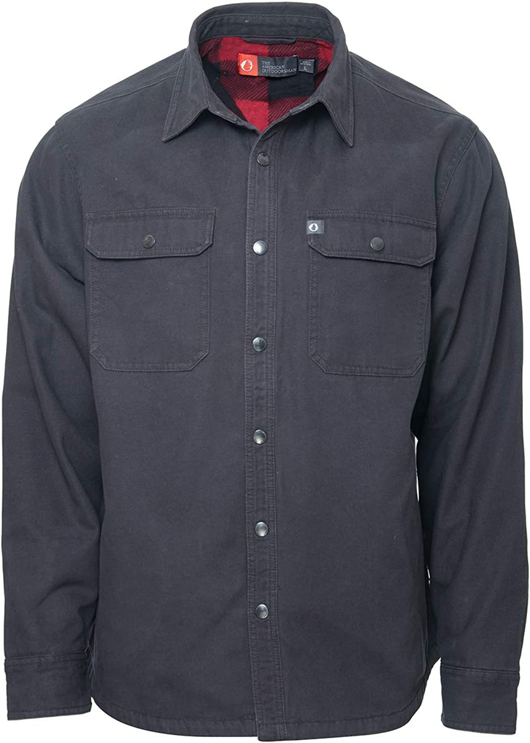 The American Outdoorsman Fleece Lined Washed Canvas Shirt Jackets for Men