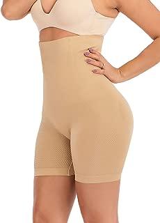 TINGLU Women's Shapewear High Waist Tummy Control Body Shaper Shorts with Mid-Thigh Slimmer