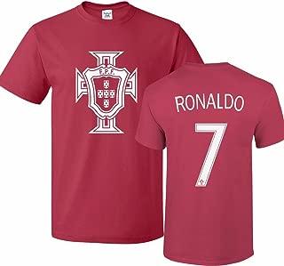 Tcamp Portugal Soccer Shirt Cristiano Ronaldo #7 Jersey Men T-Shirt