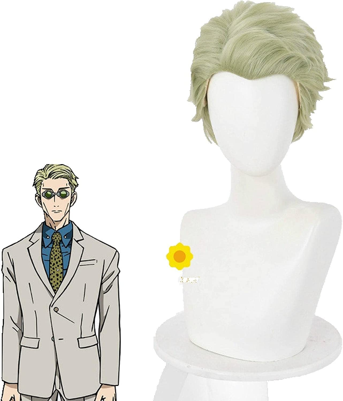 Anime Jujutsu Kaisen Nanami Kento Short Max 64% OFF Cosplay Light Wig quality assurance Green