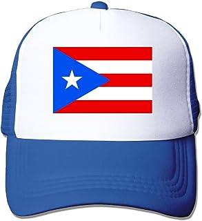 Chion Unisex Mesh Hat Flag of Puerto Rico Baseball Caps Grid Hat Adjustable Trucker Cap Headwear Bandanas