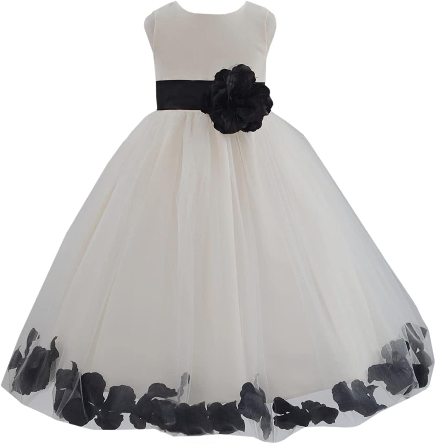 Ivory Flower Department store Free Shipping Cheap Bargain Gift Girl Dress Coral Turquoise Red Green Apple E Clover
