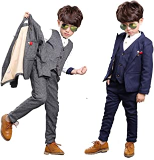 Prosperouse英国風 キッズ フォーマル 男の子 フォーマル 子供タキシード 入学 入園スーツ スーツ フォーマル 男の子 卒業式 スーツ 5点セットフォーマルウエア 七五三 ベビースーツ 発表会 誕生日 長袖ジャケット 長ズボン ベスト