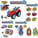 Pack SuperThings Serie 5 Hero Truck Monster Roller y 9 Sets