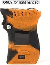 Smok MAG 225W Case for Right Handed Edition, CEOKS Skin Rubber Cover for Smok mag 225W Right Handed Mag TC Mod box protective Silicone Texture Case skin wrap Shield, Anti-Slip & Durable (Black/Orange)