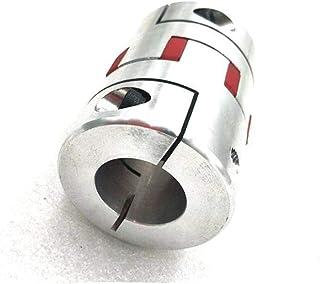 CHEMB JWUI CNC Motor Red Star Spider Plum Shaft Coupler Flexible Coupling D20 L25 6mm 6.35mm 7mm 8mm 10mm Inner Diameter : 9.5mm to 9.5mm