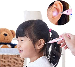 Ear Wax Remover, Q-Grips Ear Wax Remove Tool with Light, Ear Wax Cleaner Health Care Ear Cleaning Kit for Kids and Adults