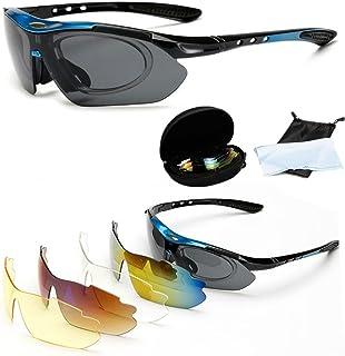 ba6fbee09f Wondder Gafas de Ciclismo 5 Lente de la Bicicleta Ciclismo Gafas de Sol  Deportes al Aire