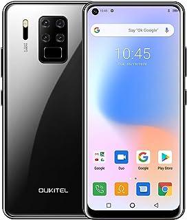 OUKITEL C18 Pro Teléfono Móvil Dual 4G, Cámara 16MP + 8MP + 5MP + 2MP, 6.55 '' Full HD Helio P25 Octa Core 4GB+64GB Android 9 Smartphone, Batería 4000mAh, Face ID+Fingerprint(Negro)