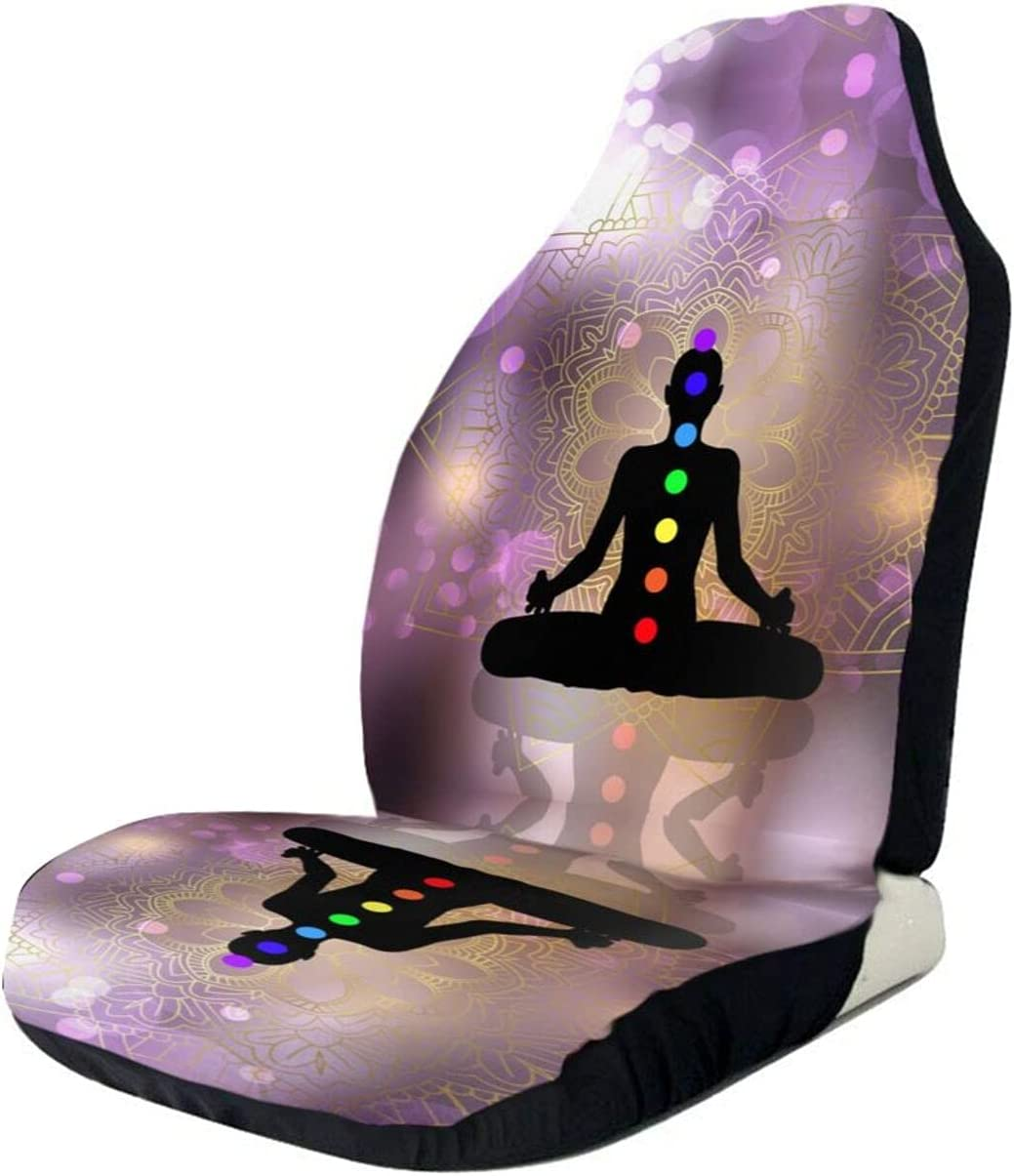 Chakra Silhouette of Female Doing Import Seat Car Cover Ranking TOP10 Front Yoga