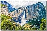 Smntt Rompecabezas Adultos 1000 Puzzle Rompecabezas de Estados Unidos Yosemite Fall California Adultos y niños Juego Familiar para