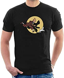 Mklbid Tintin T-Shirt The Adventures of Tintin Snowy Cartoon All Size T17