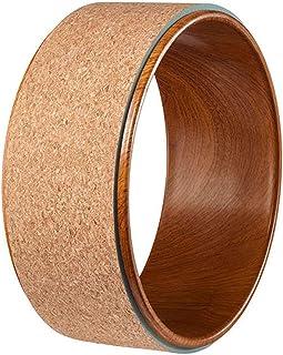 Fitness Circles Yoga Wheel Beginner Home Fitness Cork Yoga Fitness Circle Yoga Auxiliary Wheel Rear Bending Dharma Wheel Load Capacity 150KG (Color : Brown, Size : 33cm)