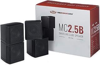 "Pure Resonance Audio MC2.5B Dual 2.5"" Swiveling Surround Sound Mini Cube Speaker (Pair, Black) (Without Brackets)"