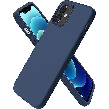 ORNARTO Funda Silicone Case Compatible con iPhone 12 Mini, Protección de Cuerpo Completo,Carcasa de Silicona Líquida Suave Antichoque Case para iPhone 12 Mini (2020) 5,4 Pulgadas Azul Marino
