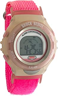 Kids Boys and Girl Shock Resistant Digital Watch - Back Light, Alarm & Chronograph Features with Adjustable Nylon Wrist Strap