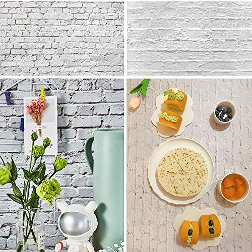 Selens 2-in-1-Hintergrund für Fotoaufnahmen, 56 x 89 cm, Ziegelsteinmauer, Fotohintergrund für Lebensmittel, flache Requisiten, Schmuck, Kosmetik, kleines Produkt, doppelseitiges Muster