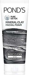 POND'S Pure Detox Mineral Clay Activated Charcoal, 4X Oil Absorbing, Detoxifying, For Oil Free Instant Glow, Face Wash 90 g