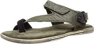 Woodland Men's Gd 1143112y15_Olive Green_7 Leather Outdoor Sandals-7 UK (41 EU) (8 US) 1143112Y15OLIVE