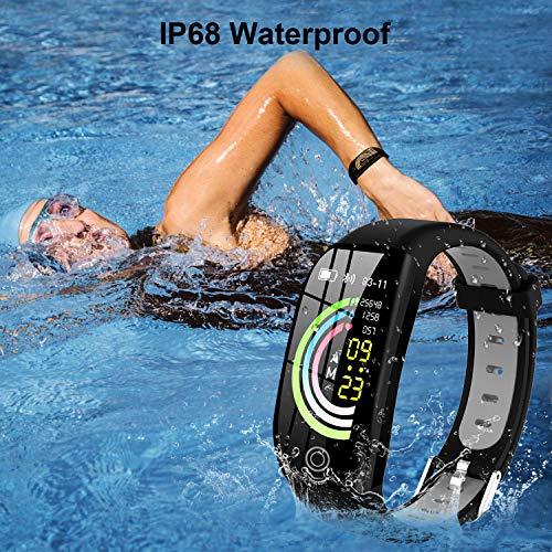 Tipmant Fitness Armband mit Pulsmesser Blutdruckmessung Smartwatch Fitness Tracker Wasserdicht IP68 Fitness Uhr Schrittzähler Pulsuhr Sportuhr für Damen Herren Kinder ios iPhone Android Handy Schwarz - 7