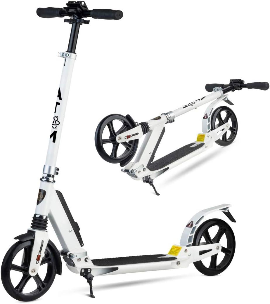 Patinete Atom para adulto   Marco plegable   2 ruedas y suspensión dual   City Commuter
