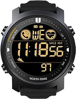 Heren buitensporten slimme metalen horloge hartslag waterdicht zwemmen bluetooth horloge calorieverbruik tactisch horloge