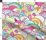 Spoonflower Stoff – Eiscreme rosa Schmetterling Mädchen