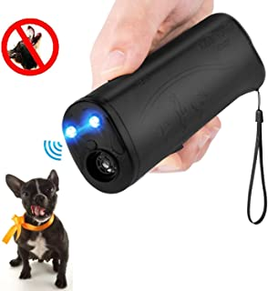 MEIREN Anti Barking Device, Handheld Dog Repellent and Training Aid with LED Flashlight, Ultrasonic Bark Control Device
