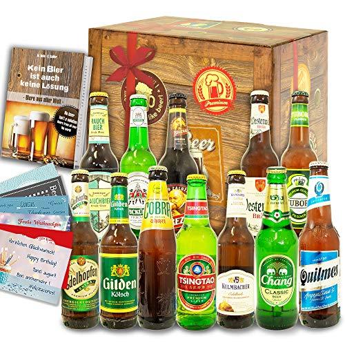 12er Bier Geschenkset/Bier aus der Welt und Deutschland/Geburtstags Paket