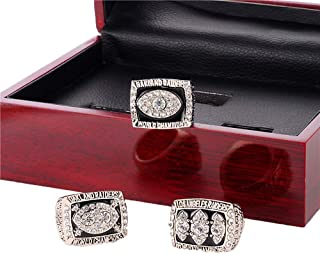 Gloral HIF Oakland Raiders Championship Ring 1976 1980 1983 A Set of 3 Replica Ring with Display Box
