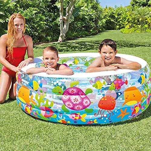 PARTAS Piscina de verano para bebés, piscinas inflables, piscina de lauge, baño al aire libre para niños (color: multicolor, tamaño: 152 x 56 cm) (color: multicolor, tamaño: 152 x 56 cm)